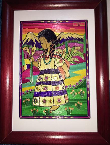 Girl with Lilies $480 pesos plus shipping (mas envio)