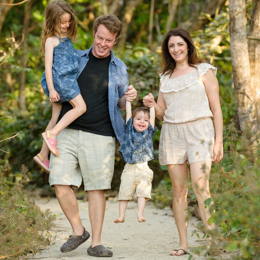 Family time at Playa Langosta