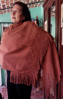 Hand-woven Ochre Rebozo $1850 pesos plus shipping (mas envio)
