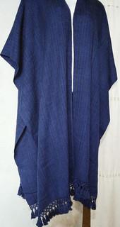 Ruana (poncho) in marine blue $1,600 pesos plus shipping (mas envio)