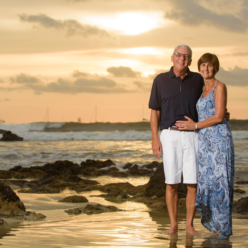 Sunset lovers at Tamarindo Diria