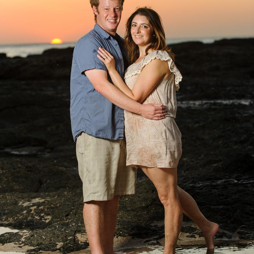 Chasing the sun on Playa Langosta