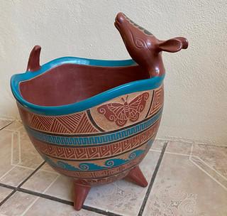 Armadillo Esgrafiado Bruñido Bowl $4500 pesos plus shipping (mas envio)