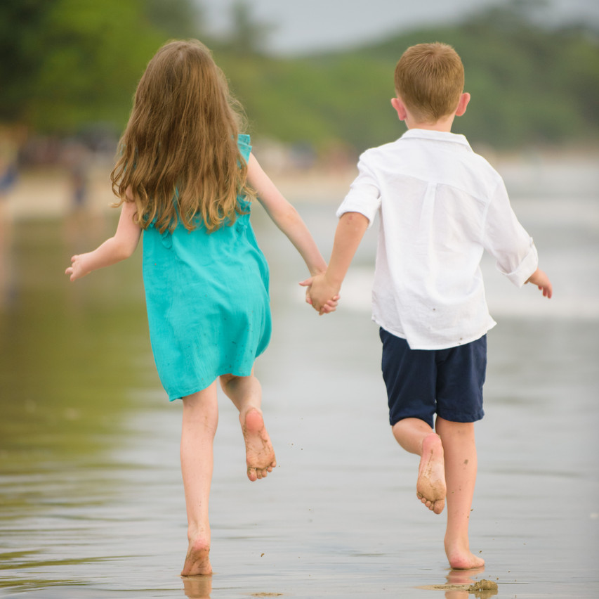 Brother and sister explore Tamarindo