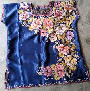 Dark Blue Embroidered Blouse $650 pesos plus shipping (mas envio)