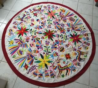 Otomi Embroidered Tablecloth $8,500 pesos plus shipping (mas envio)