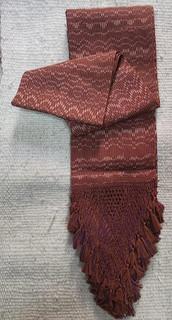 Ikat medium rebozo with antique rapacejo $3,200 pesos plus shipping (mas envio)