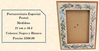 Wood inlaid w/abalone picture frame $300 pesos plus shipping (mas envio)