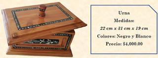 Wood inlaid w/abalone box $4,000 pesos plus shipping (mas envio)