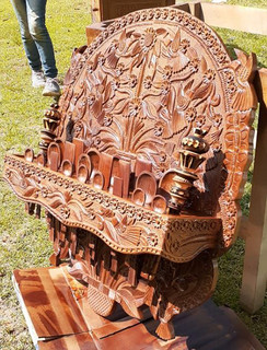 Pine Hand-carved Spoon Rack (spoons included & 2 hot-chocolate stirrers)$9,500 pesos plus shipping (mas envio)