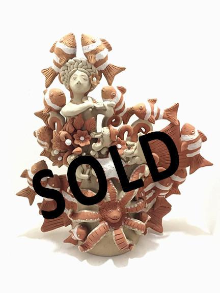 """SOLD Artist: Alicia Leticia Garcí Blanco — """"Sirena"""" $1,500 pesos plus shipping (mas envio)"""
