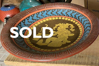 SOLD-Centerpiece in Barro Esgrafiado $1,500 pesos plus shipping (mas envio)