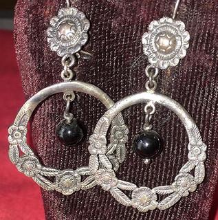 Silver Earrings $1,600 pesos plus shipping (mas envio)