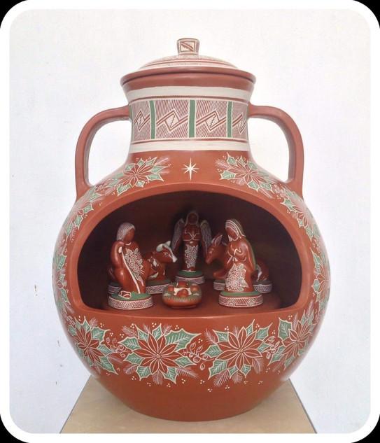 """Tonalteca Nativity Scene"" Barro Bandera $23,000 pesos plus shipping (mas envio)"