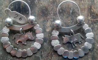 Arracada Pátzcuaro silver earrings $2500 pesos plus shipping (mas envio)