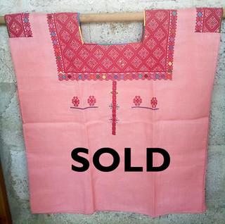 SOLD-Linen huipil $2000 pesos plus shipping / mas envio