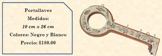 Wood inlaid w/abalone key holder $180 pesos plus shipping (mas envio)