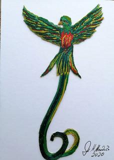 Popotillo Quetzal Bird $800 pesos plus shipping (mas envio)