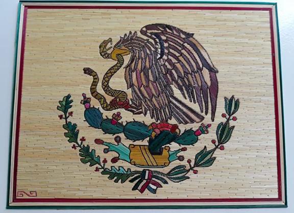 """Mexico's Emblem"" Popotillo $950 pesos plus shipping (mas envio)"
