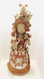 """Artist: Alicia Leticia Garcí Blanco — """"Piglet Vendor"""" $3,000 pesos plus shipping (mas envio)"""