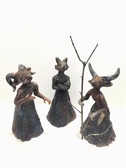 """Artist: Fernando Peguero — """"Nahuales"""" (3 pieces) $3,000 plus shipping (mas envio)"""
