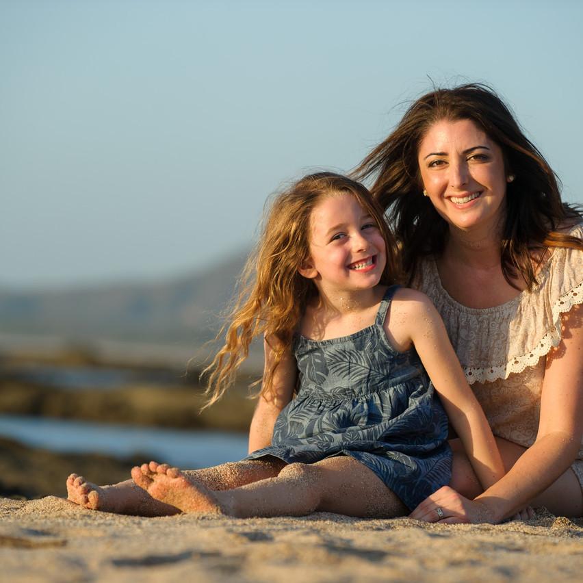 Mom and daughter on Playa Langosta