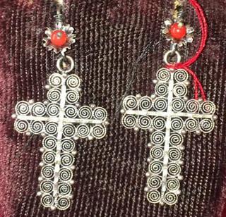 Cross Earrings $650 pesos plus shipping (mas envio)