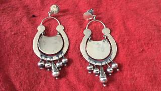 Silver earrings $2,300 pesos plus shipping (mas envio)