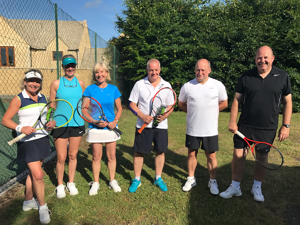 Winners and runners up at Bourton Tennis Club's annual Rose Bowl Tournament on Saturday 1 July