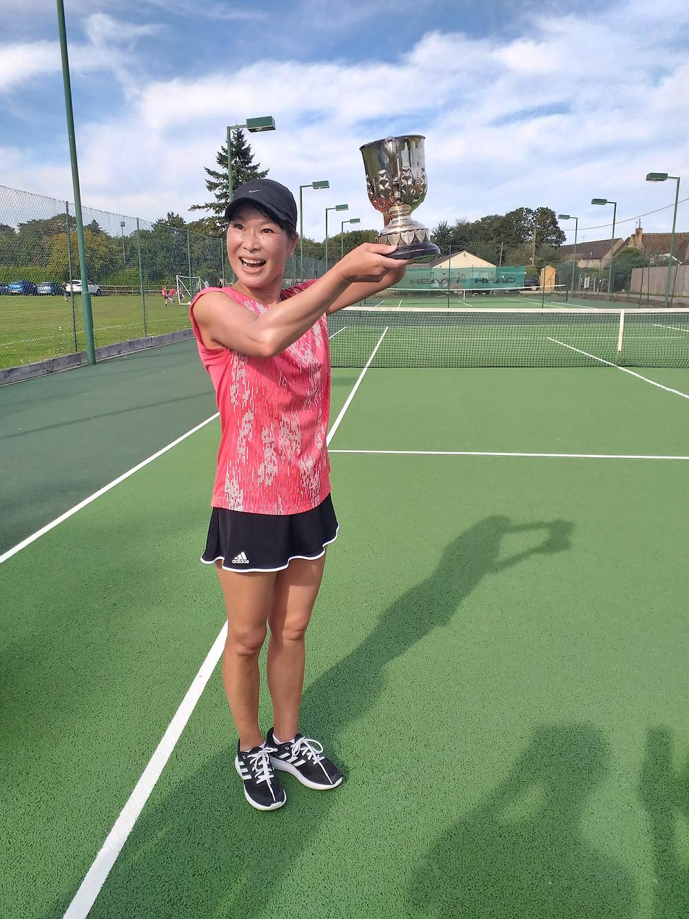 Bourton Vale LTC's 2019 Ladies' Singles Champion Yoko Peyton
