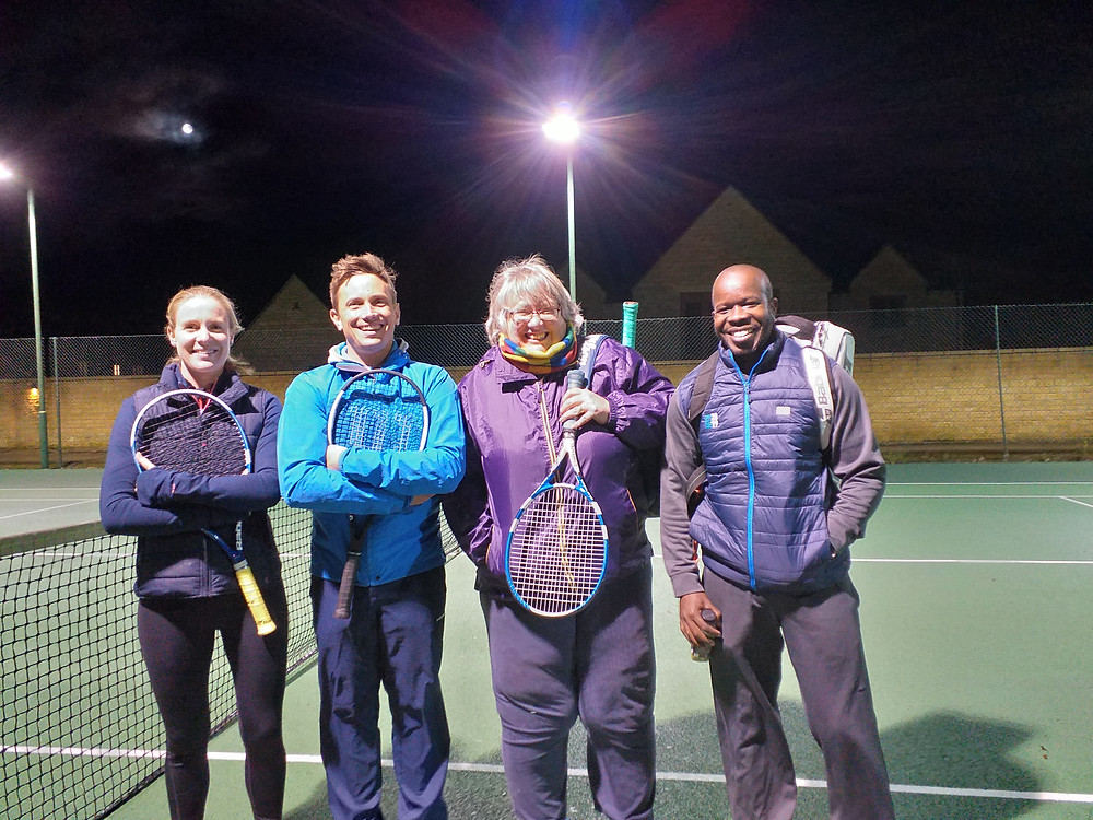 Bourton Vale Lawn Tennis Club's A team in the Gloucestershire Winter Mixed League