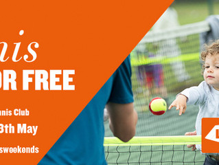 Free Tennis for All - Bourton Open Day Sat 18 May