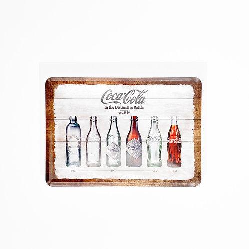 "Blechpostkarte ""CocaCola Bottles"""
