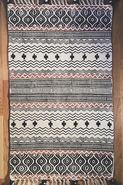 Teppich rotbraun, blau