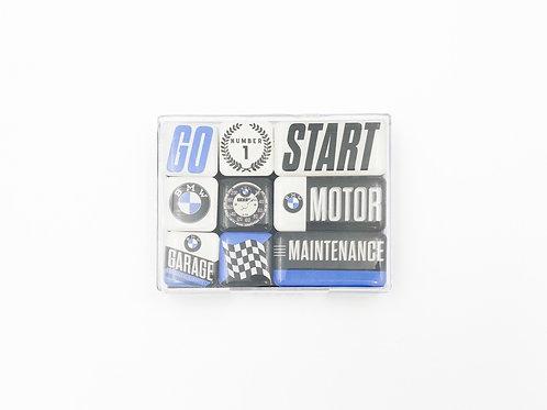 """9er Magnet-Set """"BMW Motor"""""""