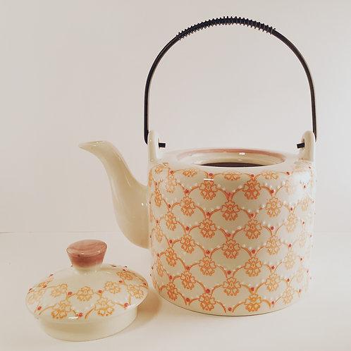 Kanne Keramik orange