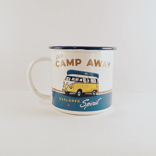"Emaille-Tasse ""Let's Camp Away"""