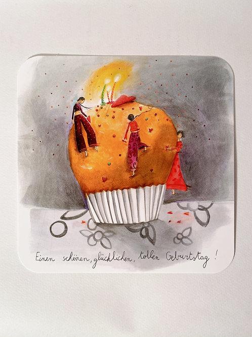 "Karte ""Geburtstag Muffin"""