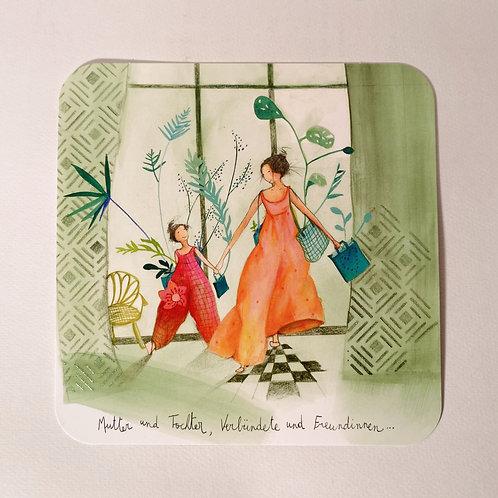 """Karte """"Mutter und Tochter"""""""