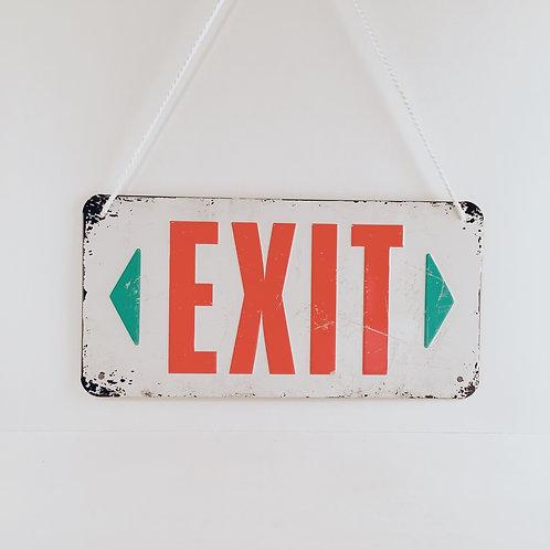 """Schild """"Exit"""""""