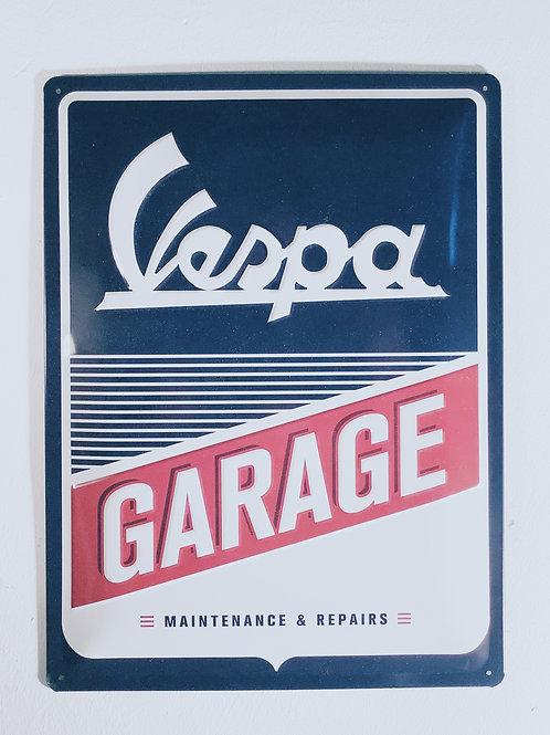 """Schild """"Vespa Garage"""""""