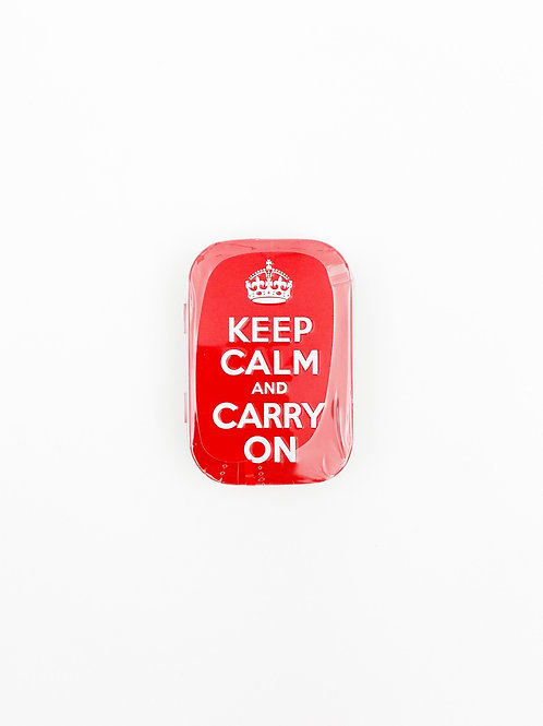 """Pillendose """"Keep Calm And Carry On"""""""