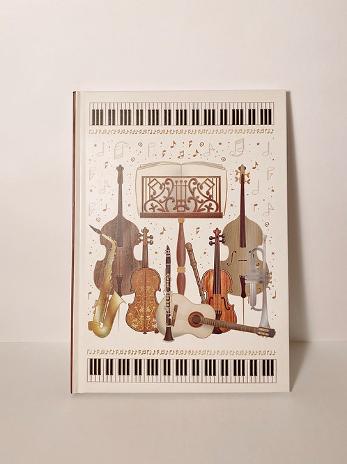 Notizbuch Musik