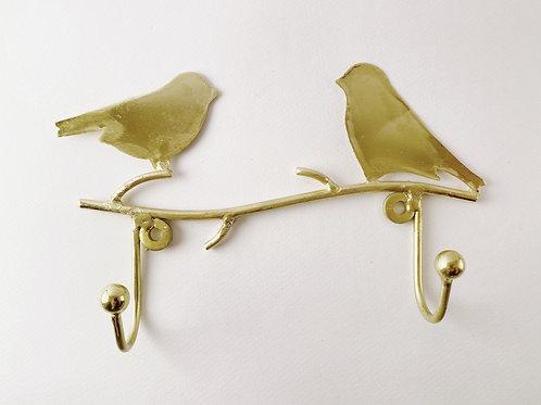 2er Vogelhaken gold