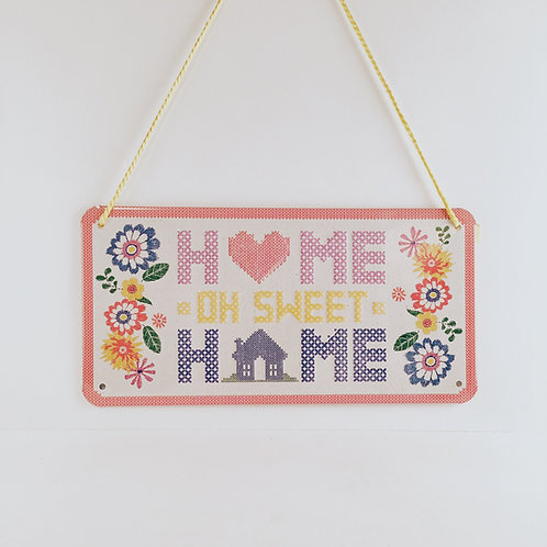 "Schild ""Home oh sweet home"""