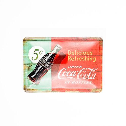 "Blechpostkarte ""Delicious CocaCola"""