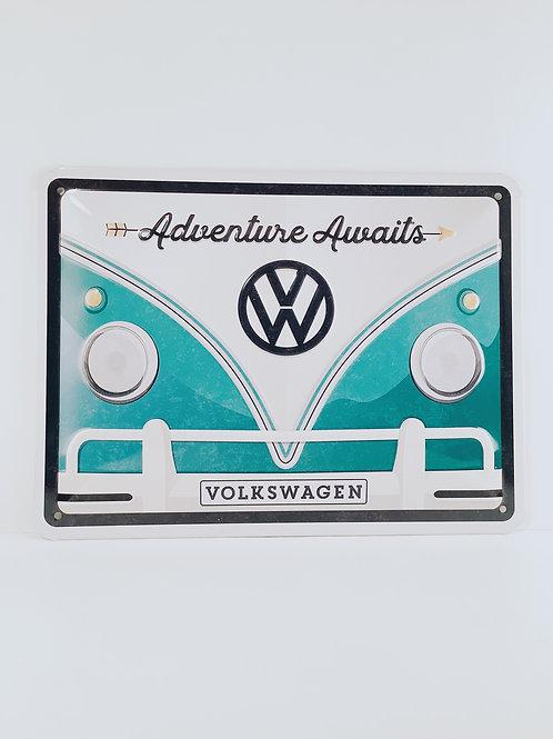 "Schild ""VW Adventures"""