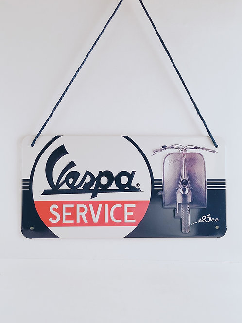 """Schild """"Vespa Service"""""""