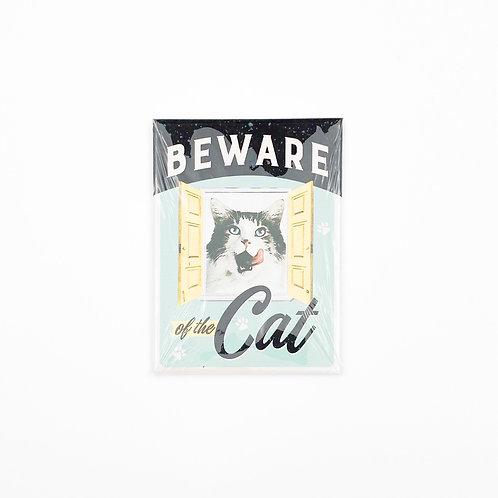 "Magnet ""Beware Of The Cat """