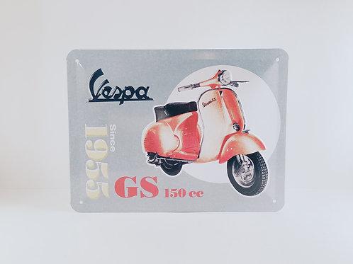 "Schild ""Vespa since 1955"""